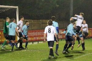 Pagham on the attack against Uckfield / Picture by Roger Smith
