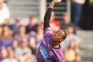 Jofra Archer can look forward to a home semi-final in the Big Bash / Picture by Getty Images