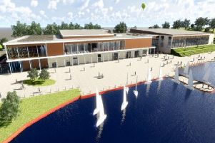 Architect's image of what the new South Lakes Leisure Centre will look like