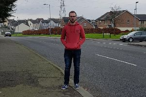 SDLP representative Ciaran Toman on the Old Portadown Rd Lurgan