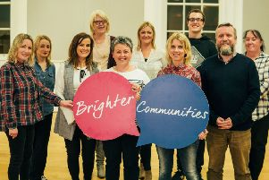 Paul Keenan (front right) pictured with Sound Friends members and Level 1 sign language students.