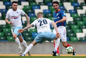 Linfield's Josh Robinson in action