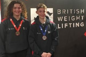 Nellie and James at the championships
