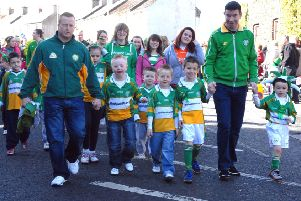 Enjoying their day at the St Patrick's Day parade a few years ago in Lurgan INLM1211-146gc