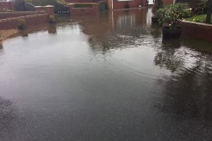 Flooding at Glenbrook Cottages.