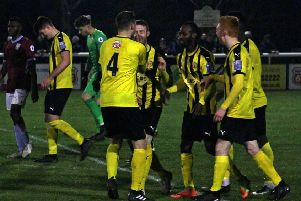 Brakes celebrate Junior English's second-half equaliser. Picture: Sally Ellis