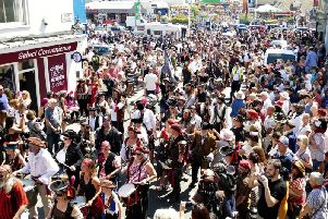 Hastings Pirate Day 2018. Photo by Sid Saunders SUS-180716-070743001