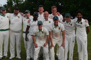 A happy Burgess Hill 1st XI. Picture by Peter Chapman