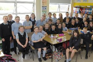"""Students at Tandragee Primary School ��paws�"""" to learn at educational dog shows"""