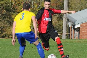 Adam Miles in action for Central Ajax.