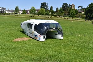 The Ardingly Solar Car in Victoria Park SUS-190107-143608001
