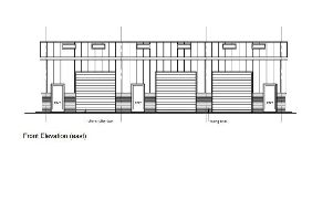 Front elevation of one of the industrial units in Plummers Plain