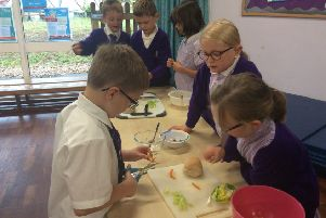 Pupils enjoy a cooking challenge!