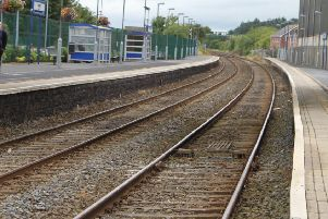Lurgan Train Station.