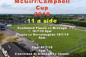 A flyer for the McGirr/Campbell Cup, taken from Coalisland Fianna Facebook site