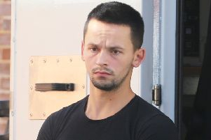 Cristian Sabou appears at Lewes Crown Court charged with murdering Valerie Graves in Bosham