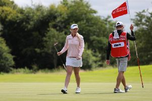 Stephanie Meadow during her first round at the ISPS Handa World Invitational on the Galgorm course on Thursday