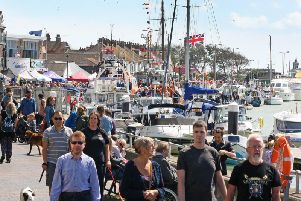 Thousands of people visited Littlehampton Harbour for Littlehampton Waterfront Festival 2019 and Littlehampton RNLI Lifeboat Station open day. Picture: Derek Martin DM1984049a