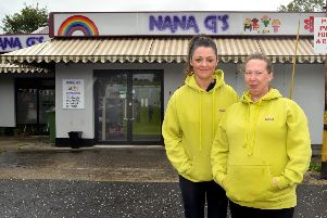 Kathryn Brown, left, owner of Nana Gs Daycare with nursery assissant, Claire Mallon. INPT34-237.