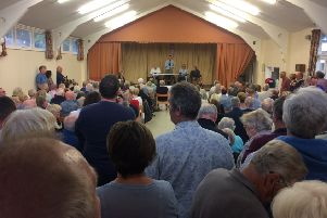 Residents filled Mosse Hall for the meeting last night