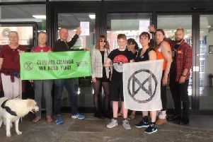 Extinction Rebellion protesters outside Bucks County Council's offices