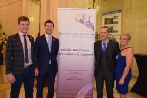 Jonathan Buckley MLA with the Niamh Louise Foundation suicide awareness, prevention and support team.