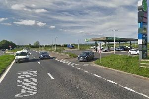 The site of a proposed 65-bedroom hotel on the A26 Crankill Road outside Ballymena, located close to an Applegreen outlet