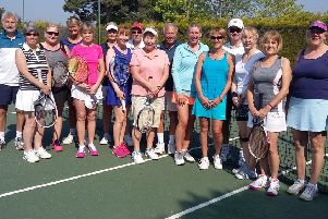 The 16 players who competed in the Midweek Masters League at Warsash
