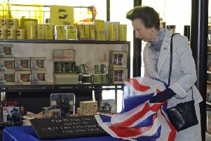 Princess Anne unveils a plaque at the D-Day Museum today. Picture: Ian Hargreaves