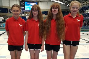 From left to right: Amelia Cripps, Georgia Kennedy, Isobelle Kennedy and Georgina Taylor, from Crofton Hammond Junior School, just missed out on bronze at the English Primary Schools' Relay Championship