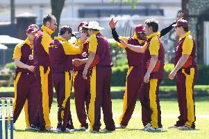 Graham Burns, second left, has taken 29 wickets this season. Picture: Neil Marshall