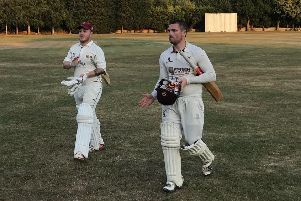 Tom Degnan walks off after hitting 300 not out