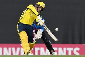 Colin Munro scored 63 runs with the bat as Hampshire beat Middlesex by 21 runs Picture: Neil Marshall