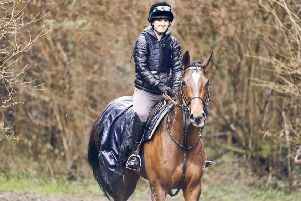 Camilla Hickish at Goodwood in training for the Magnolia Cup / Picture by Dominic James