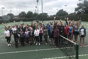 Warsash members wave goodbye to their courts, which are now being resurfaced