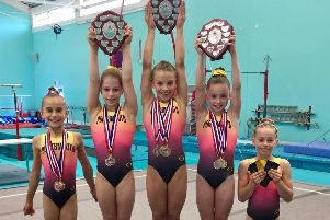 It was a great competition for the Portsmouth gymnasts
