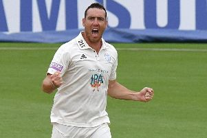 Hampshire bowler Kyle Abbott. Picture: Neil Marshall