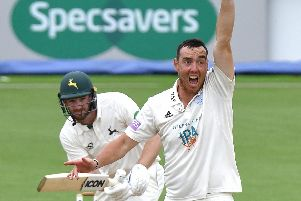 Kyle Abbott has been in excellent form for Hampshire in recent County Championship matches. Picture: Neil Marshall