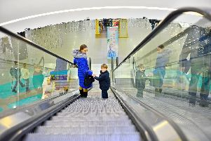 Toddlers can be easily occupied on escalators, says Kieran Howard.