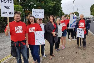 Activists campaign against plans for homes next to Newgate Lane. Picture: Supplied