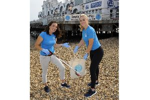 Lizzie Pollard, left, with Bianca Carr, both from The Final Straw Solent. Picture: Malcolm Wells