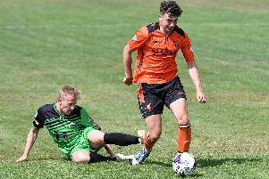 Dale Mason was on target for AFC Portchester. Picture: Neil Marshall