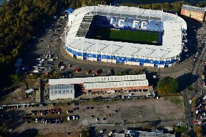 Aerial view of the King Power Stadium in Leicester after the helicopter crash on Saturday night (Photograph: Tristan Potter/SWNS.com)