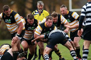 Havant Mariners proved too strong for Portsmouth and retained the Hampshire RFU Vets Cup. Picture: Chris Moorhouse