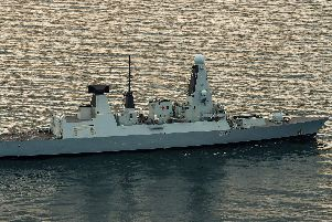 HMS Duncan has arrived in the Mediterranean. Photo: LPhot Paul Hall