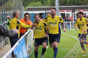 George Barker is back with Gosport Borough and showing his experience. Picture: Keith Fuller (KF Photography)