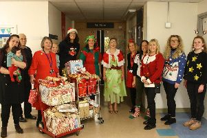 Acts of Kindness Community (Solent) and other community members donated presents and handmade cards to patients on the older persons' ward at QA Hospital