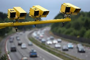 Average speed cameras have been installed on the M27
