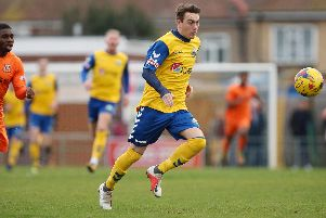 Gosport Borough forward Ryan Pennery. Picture: Chris Moorhouse
