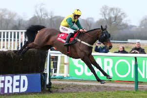 Milansbar, winner of the Classic Chase in 2018, is aiming for a repeat on Saturday. Picture: www.dwprattracingphotography.co.uk
